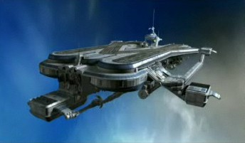 Skybase - Spectrum Headquarters from the New Captain Scarlet show. Image was screen-captured from the second trailer.